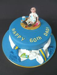 elegant birthday cake image_dark blue cake