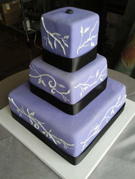 Lavender Squares And Cube Wedding Cake Jpg