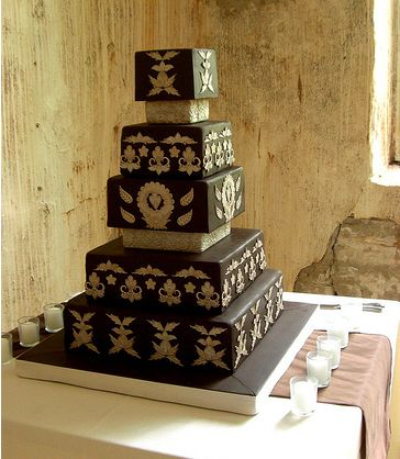 square chocolate wedding cakes chocolate fondant square wedding cake jpg 1 comment 20360