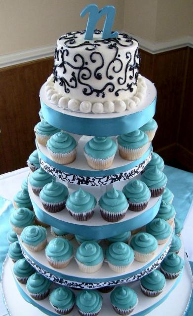 Turquoise Cupcakes Tower Wedding Cake Jpg Hi Res 720p Hd