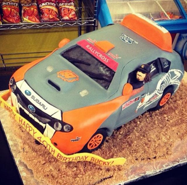 Subaru Rally Car Cake Jpg