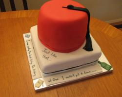 Red hat graduation cake.JPG