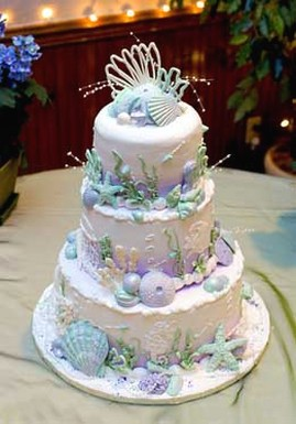 image of sea shell wedding cake 1 comment. Black Bedroom Furniture Sets. Home Design Ideas