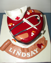 2012 graduation cakes picture of a heart shaped nursing graduation cake in red.PNG