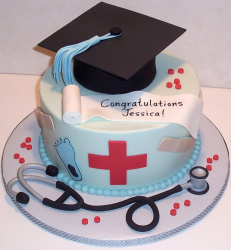 Chic nursing graduation cakes pictures.PNG