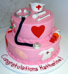 Fancy graduation cakes for nursing gradaution cakes design ideas_very pretty cake.PNG
