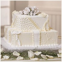 Cream wedding cake images