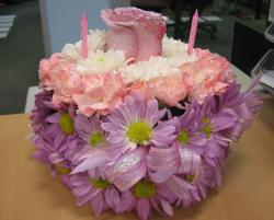 Flower theme birthday cake.JPG