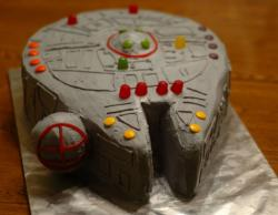 Star Wars Millennium Falcon birthday cake.JPG