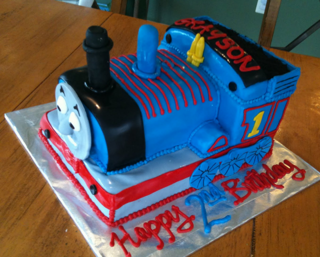 Thomas The Train Birthday Cake For Kids Png Hi Res 720p Hd