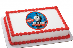 Professional looking Thomas and friends birthday cake with Thomas the train picture.PNG