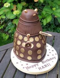 Dr Who chocolate birthday cake.JPG
