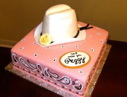 Cowboy hat retirement cake_very cool retirement cake in pink.jpg