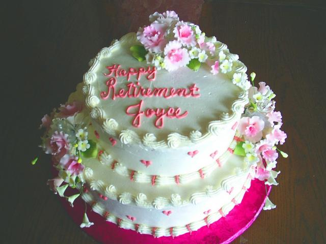 Pink Floral Retirement Cake Photo Jpg 1 Comment Hi Res