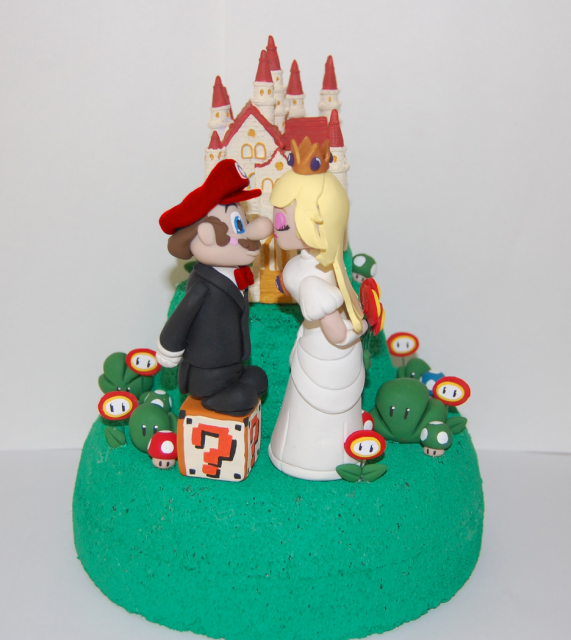 Super Mario And Princess Peach Base Wedding Cake TopperPNG 4 Comments Hi Res 720p HD