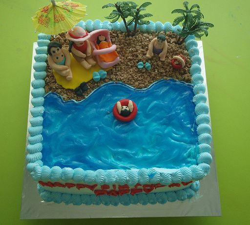 Family Beach Theme Birthday Cake Jpg 1 Comment