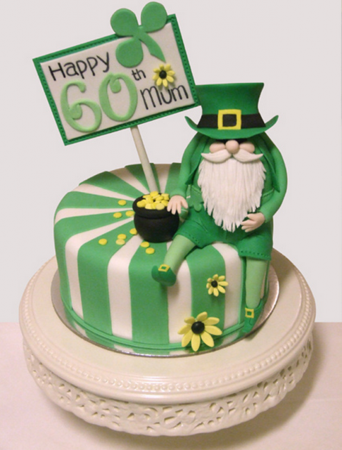 Birthday Cake With St Patricks Day Theme Png